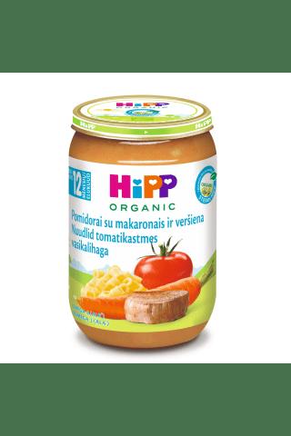 Biezenis Hipp Bio teļa gaļas,nūdeļu,tomātu 12m 220g