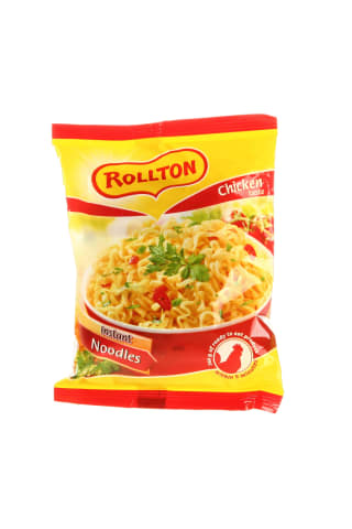 Greitai pagaminami vermišeliai su naminiu sultiniu ir vištiena ROLLTON, 60 g