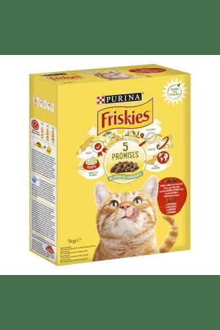 Sausas kačių ėdalas su jautiena ir vištiena FRISKIES, 1 kg
