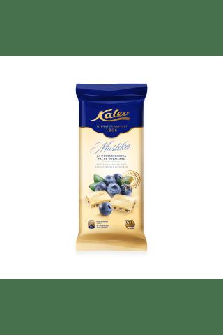 Baltā šokolāde Kalev ar melleņu gabaliņiem 95g