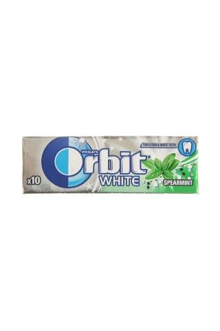 Becukrė mėtų skonio kramtomoji guma su saldikliais ORBIT WHITE, 10 vnt, 14 g