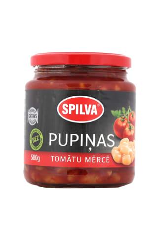 Pupiņas Spilva tomātu mērcē 580g