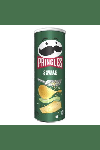 Traškučiai PRINGLES CHEESE&ONION, 165 g