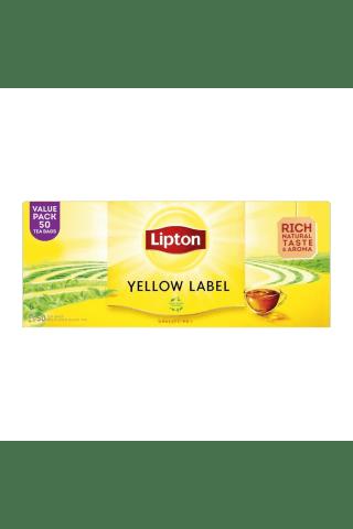 Juodoji arbata LIPTON YELLOW LABEL, 50 pak. x 2 g, 100 g