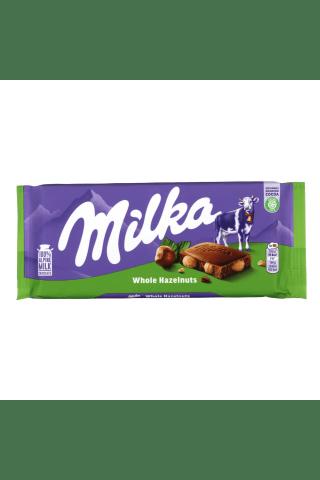 Piena šokolāde Milka ar veseliem lazdu riesktiem 100g