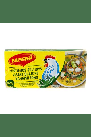 Vištienos sultinys su petražolėmis ir krapais MAGGI, 12 kub. x 10 g, 120 g