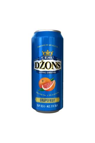 Alkoholiskais kokteilis Cēsu Džons greipfrūts 5% 0.5l