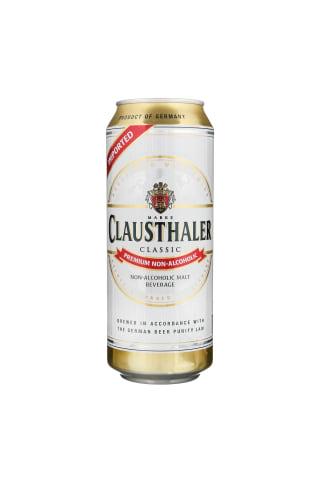 Nealkoholinis alus CLAUSTHALER 0 %, skarda, 0,5 l