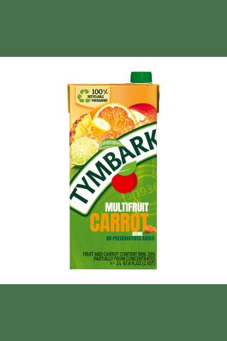 Įvairių vaisių ir morkų gėrimas TYMBARK, 2 l