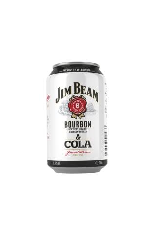 Alkoholinis kokteilis JIM BEAM COLA, 4,5%, 0,33 l