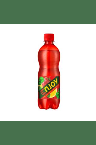 Gazuotas nealkoholinis gėrimas njoy citrinų-braškių skonio 0,5l pet