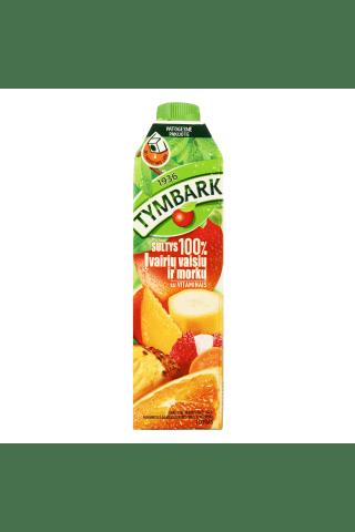 Įvairių vaisių ir morkų sultys 100% TYMBARK, 1 l