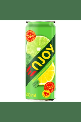 Gazuotas nealkoholinis gėrimas njoy citrinų-žalių citrinų skonio 0,33l sk.