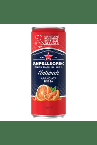 Gazuotas gaivusis sulčių gėrimas  S.PELLEGRINO Aranciata ROSSA, 0,33 l