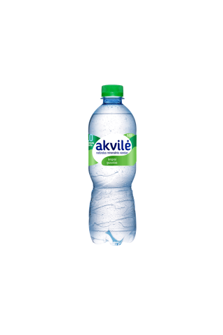 Lengvai gazuotas natūralus mineralinis vanduo AKVILĖ, 0,5 l