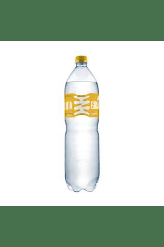 Silpnai gazuotas citrinų skonio stalo vanduo ŽALIA GIRIA, 1,5 l