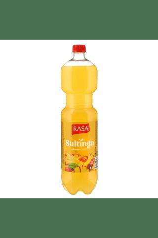 Negazuotas gėrimas ananasų ir persikų skonio RASA JUICE DRINK, 1,5 l