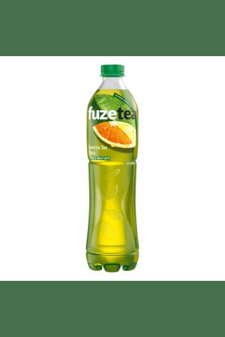 Negazuotas citrusų skonio  gaivusis žaliosios arbatos gėrimas fuze tea, 1,5l