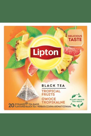 Melnā tēja Lipton tropisko augļu 20tm 36g