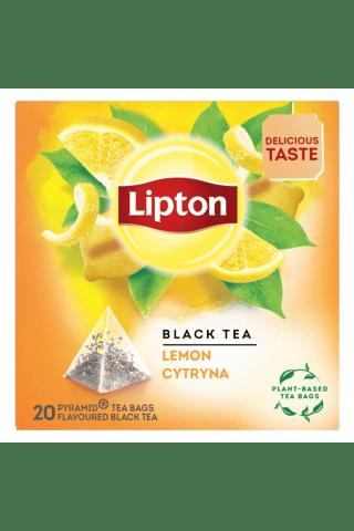 Melnā tēja Lipton citronu 20tm 34g