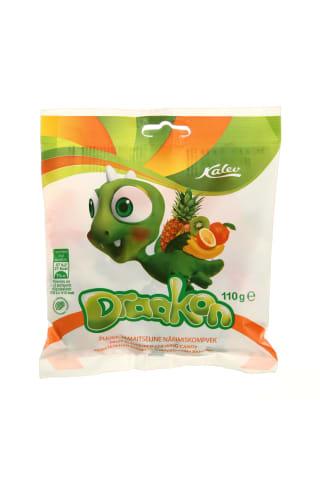 Vaisių skonio kramtomieji saldainiai DRAAKON, 110 g