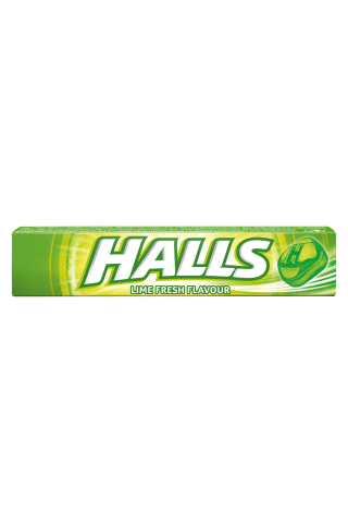 Žaliųjų citrinų skonio ledinukai su vitaminu C HALLS, 33,5 g