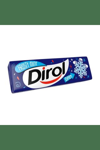 Košļājamā gumija Dirol frosty mint ar saldinātājiem un piparmētru garšu 13.6g