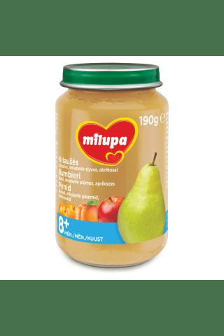 Rudens vaisių salotos MILUPA, nuo 8 mėn., 190 g