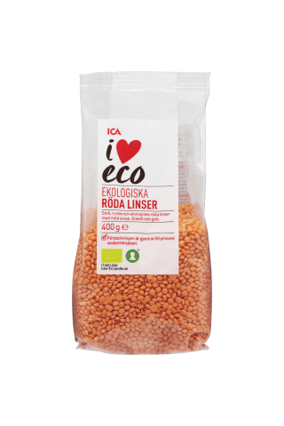 Ekologiški raudonieji lęšiai I LOVE ECO, 400 g