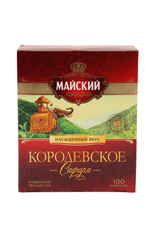 Melnā tēja Korolevskoe Safari 100x2g