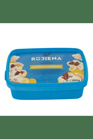 Saldējums Rūjienas ar banānu un šokolādes piedevām 1l