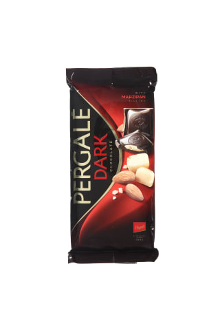 Juodasis šokoladas su marcipaniniu įdaru PERGALĖ,100g