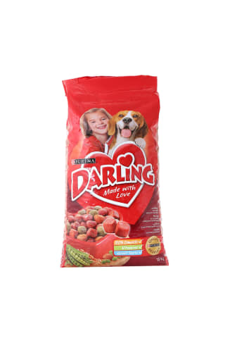 Suņu barība Darling liellopu un dārzeņu 15kg