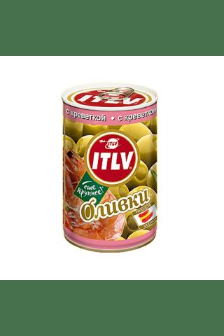 Zaļās olīvas ITLV pildītas ar garneļu pastu 314ml