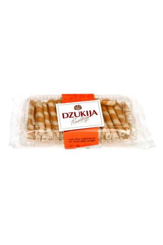 Vafliniai vamzeliai su vanilės įdaru DZUKIJA, 160 g