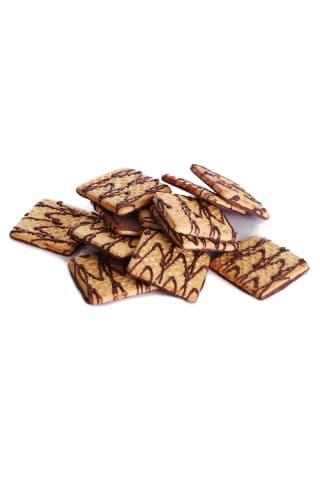 SELGA sausainiai su šokoladiniu glaistu