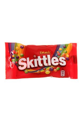Vaisių skonio kramtomieji saldainiai SKITTLES, 38 g