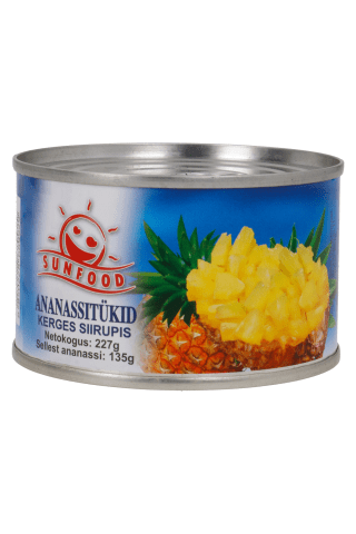 Sunfood Ananassitükid Omas Mahlas 227G