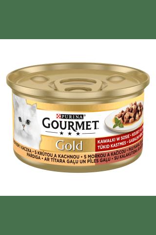 Kompleksa barība mājas pieaugušiem kaķiem Gourmet gold tītara un pīles 85g