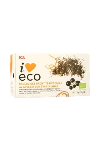 Ekologiška žalioji arbata su apelsinais ir juodaisiais serbentais ICA, 20 pak.