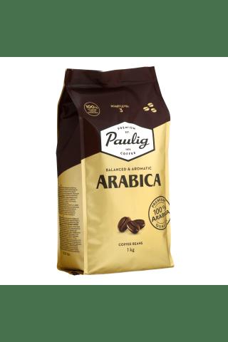 Paulig arabica 1kg kavos pupeles