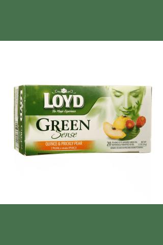 Tēja loyd sense zaļā ar cidonijas un opuncijas garšu 20gb, 34g