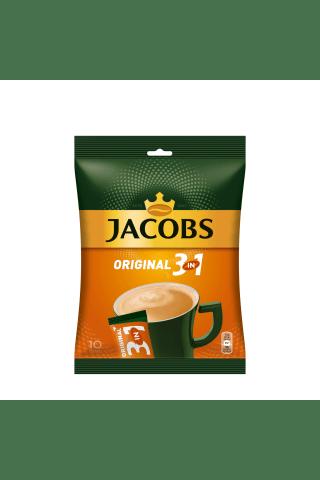 Tirpus balintos kavos gėrimas su cukrumi JACOBS 3IN1, 10*15,2 g, 152 g