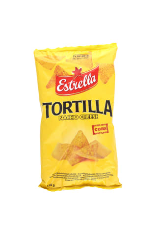 Tortilla čipsi Estrella ar sieru 150g