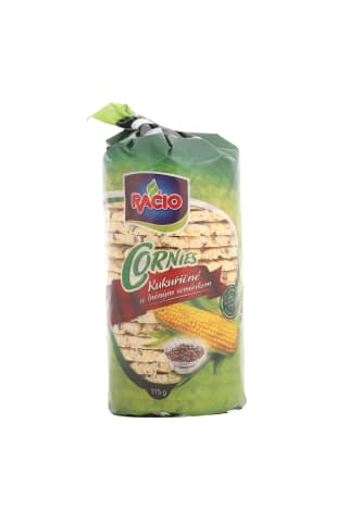 Kukurūzas galetes ar linsēklām 115g
