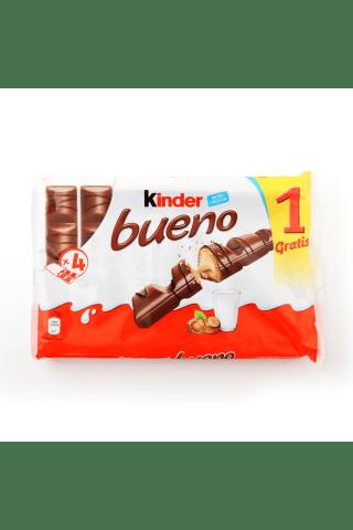 Šokolādes batoniņš Kinder Bueno 3+1 172g