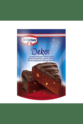 Melnās šokolādes garšas glazūra Dr.Oetker 100g