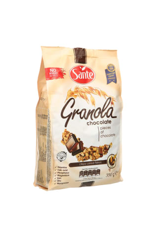 Šokoladinė granola traškūs dribsniai su šokoladu