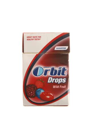 Becukriai vaisių skonio ledinukai su saldikliais ORBIT, 33 g