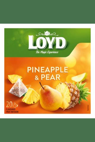Augļu tēja Loyd ananāsu bumbieru 20tm 40g
